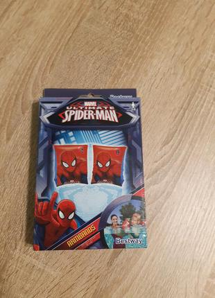 Нарукавники надувные человек паук 3-6 лет