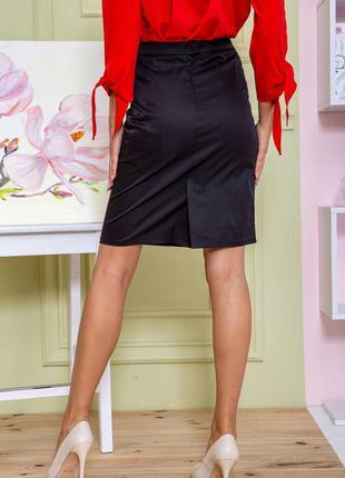 Базовая юбка высокая посадка демми 3 цвета- s m l