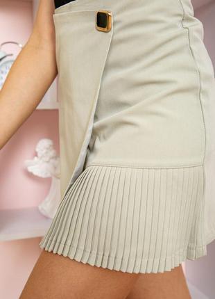 Оливкового цвета юбка мини на запах демми цвета 3-s m l xl