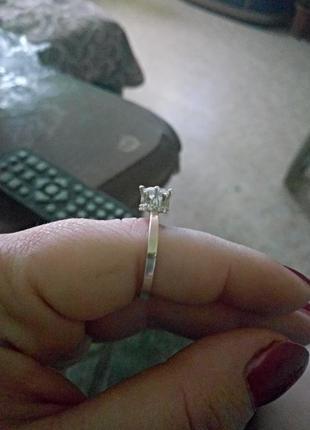 Кольцо серебро с золотом 19.5