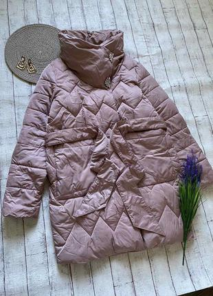 Теплая зимняя куртка с высоким воротом