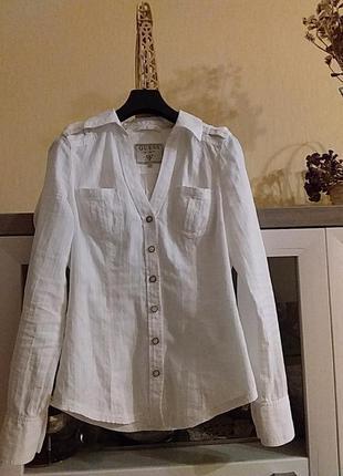 Белая блуза guess