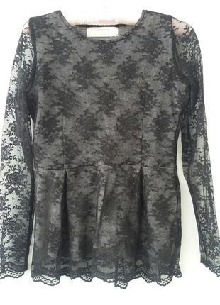 Кружевной свитер zara