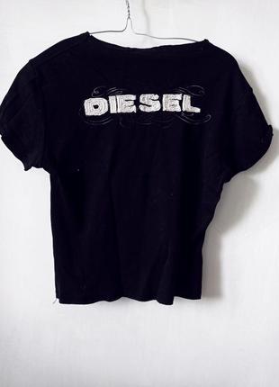 Качественный трикотаж дизель черного цвета украшеная логотипом