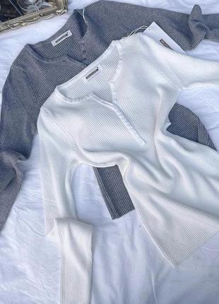 Кофта свитер светер пуговка пуговица джемпер гольф гудзик рубчик