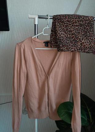 Шикарный теплый костюм шорты и кофта кардиган