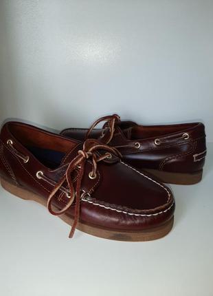 Timberland кожаные туфли топсайдеры