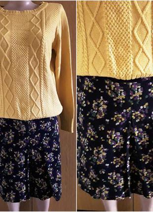 Стильная   микро вельветовая юбка в принт от  hobbs