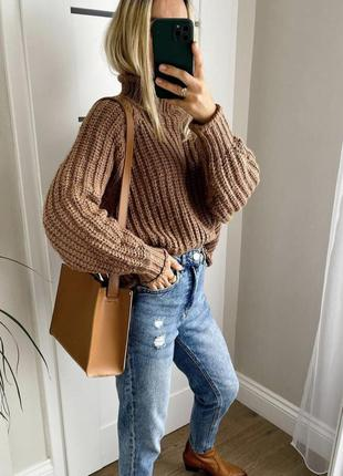 Вязаная кофта свитер джемпер h&m шерсть