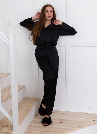 Шелковая пижама костюм