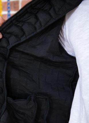 Куртка бомбер мужская стеганая цвет черный s m l