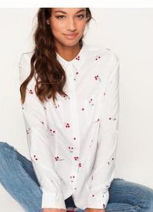 Базовая блузка tally-weijl с принтом вишни xs