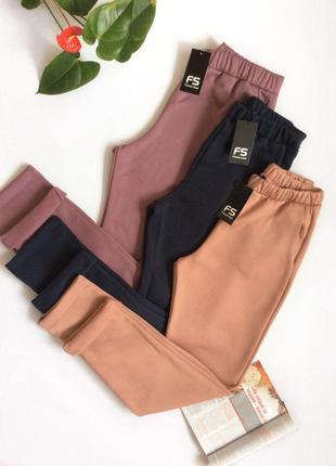 Теплые трикотажные брюки штаны на флисе