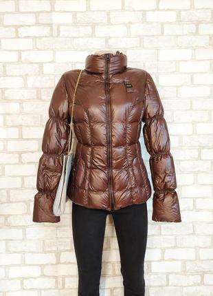 Фирменная blauer обалденная стёганная куртка деми-зима с высоким горлом, размер м-ка