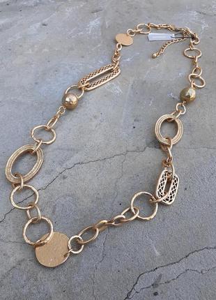 ⛓💛⛓chico's пояс ремень цепочка цепь металлическая в позолоте оригинал клеймо слимпанк искушение брошированное золото