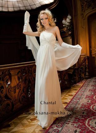 Свадебное вечернее платье в греческом стиле бренд oksana mukha