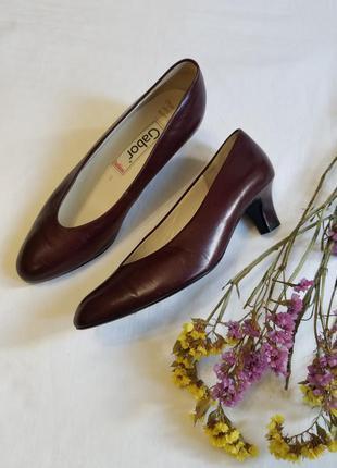 🌸 натуральные фирменные туфли gabor германия