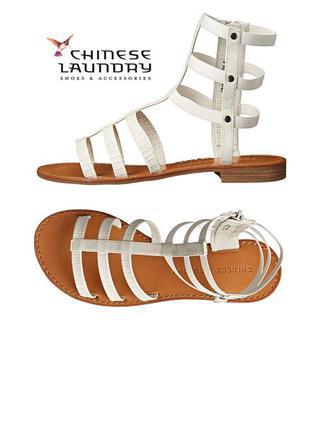 Chinese laundry оригинал белые сандалии босоножки гладиаторы бренд из сша