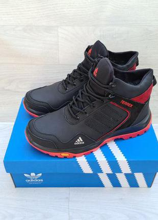 Мужские кожаные зимние ботинки adidas terrex