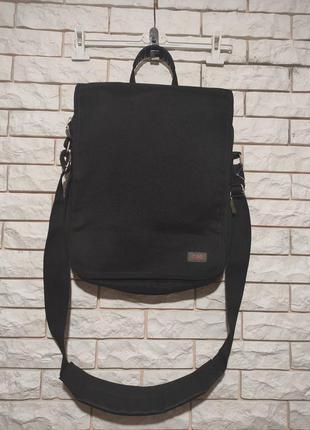 Качественная мужская сумка черная портфель через плечо кросс боди мессенджер для ноутбука документов