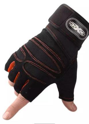 Перчатки для фитнеса мужские, новые.