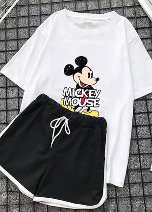 3 цветакостюм микки (футболка и шорты)❣️