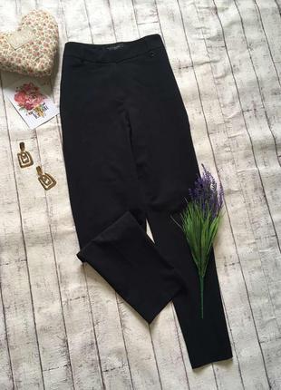 Базовые черные брюки высокая посадка