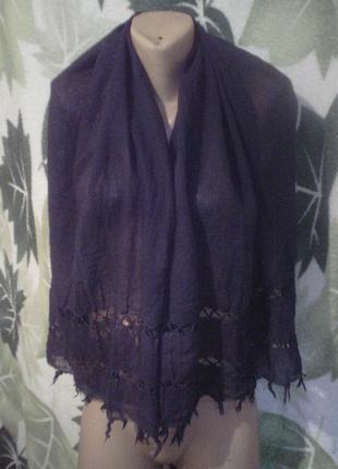 Большой длинный шарф платок узорный
