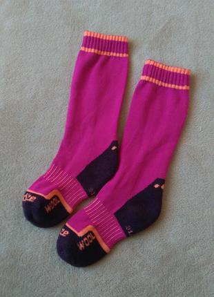 Термошкарпетки wedze з мериносовою вовною 31-34 термо гольфи носки лыжные шерстяные шерсть мериноса гольфы