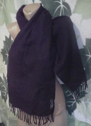 Теплый 100% акрил акриловый шарфик черный