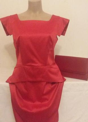 Шикарное платье south алого цвета