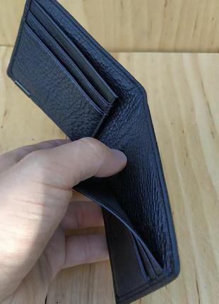 Кошелек кожаний на магните гаманець шкіряний чоловічий