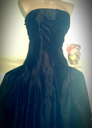 Шикарное вечернее платье zara темный шоколад