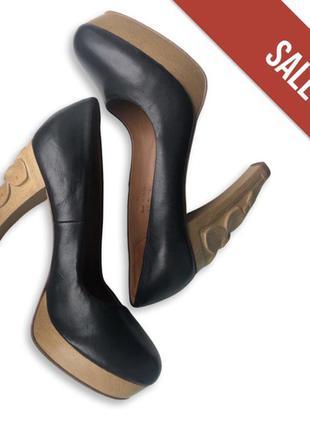 Туфли на каблуке кожанные черные & other stories 37
