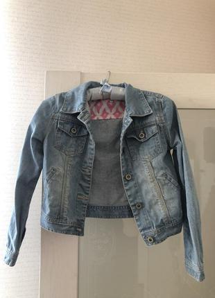Детский джинсовый пиджак
