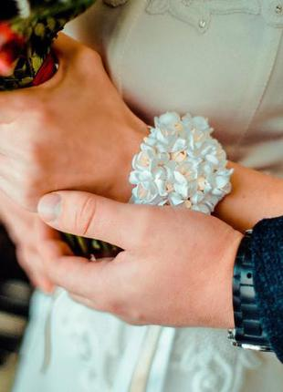 Свадебный браслет для невесты ручной работы3 фото
