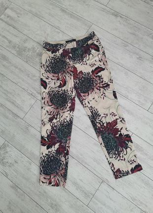 Штаны, брюки с цветочным принтом, цветочные штаны