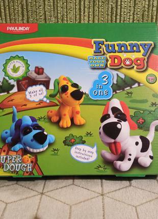 Масса для лепки paulinda super dough веселые собаки 3 в 1