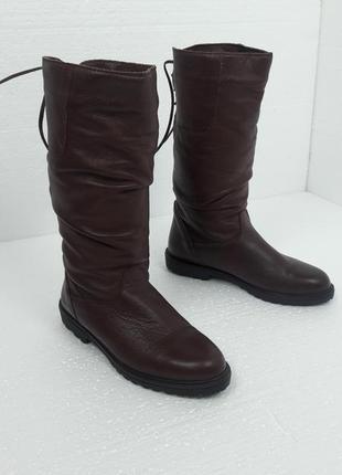 23.5см кожаные зимние сапоги на меху 111763