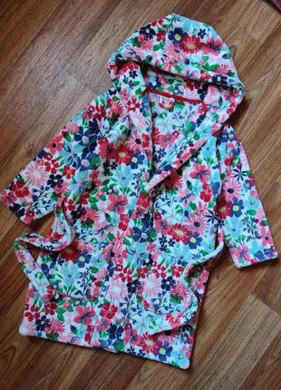 Мягкий плотный плюшевый халат на 6-7 лет