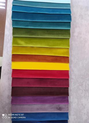 Палетка разноцветных тканей для творчества и рукоделия