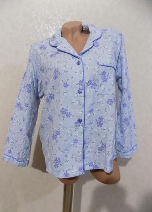 Пижама кофта пижамная теплая фирменная etam размер 48