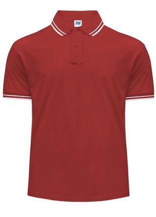 Красная поло тенниска футболка jhk