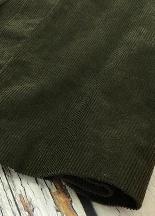 Коричневая юбка из крупного вельвета от zara  ki521443