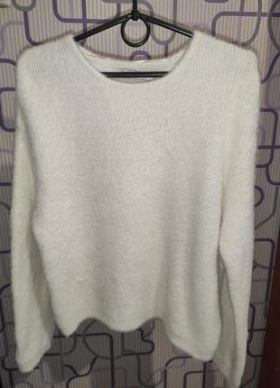 Укороченный свитер травка оверсайз