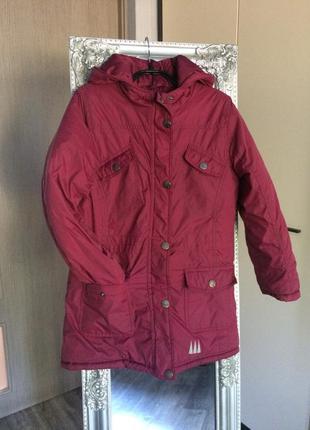 Куртка-пальто цвет марсала