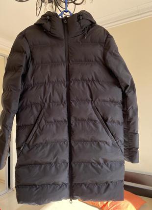 Подовжена чоловіча куртка плащ балоновий зимовий