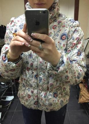 Куртка, пуховик в цветы