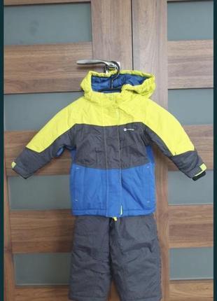 Зимовий комплект напівкомбінезон + куртка mountain pro 86-92см