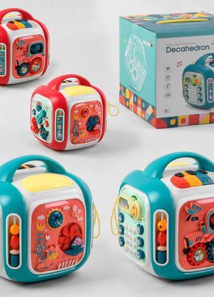 Музыкальный куб сортер с мини играми 7068